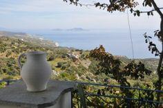 Blick von der Terrasse - Kretaferienhaus Maxrath, Ferienhaus in Kerames (Rethymnon), Kreta, Griechenland