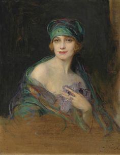 The Athenaeum - Portrait of Princess Ruspoli, Duchess de Gramont (Philip Alexius de László - 1922)