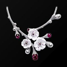 White gold Rubellites Diamond Necklace - Piaget Luxury Jewelry Online - If i win the lottery this is what I will by, guessing it would probably take all my winnings too Jewelry Logo, Men's Jewelry, Cute Jewelry, Modern Jewelry, Luxury Jewelry, Diamond Jewelry, Jewelry Accessories, Vintage Jewelry, Fashion Jewelry