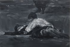 Yan Pei-Ming (b. 1960), Rossellini, Roma città aperta, 2015. oil on canvas, 100 × 150 cm