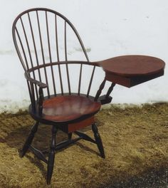 Antique writing chair - for a lefty!