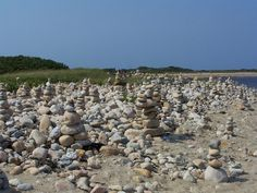Block Island cairns stated years ago and passers by always add on and keep building :-)