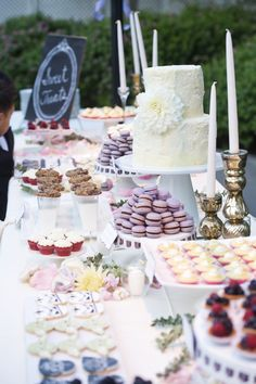 Please let there be a dessert table. And please let it be piled with French macaroons.