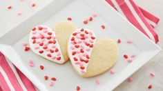 These dipped heart sugar cookies are an easy and delicious way to show your Valentine how much you love them.