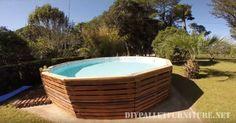 Video, wie einen Pool mit Paletten zu bauen 1
