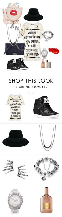 """""""Untitled #85"""" by roxana27 ❤ liked on Polyvore featuring Moschino, MICHAEL Michael Kors, Chanel, Maison Michel, Simply Vera, Michael Kors, Tom Ford, Urban Decay, Ilia and Rupaul"""