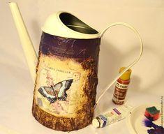 Декорируем лейку в технике «Терра» с декупажем - Ярмарка Мастеров - ручная работа, handmade