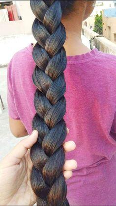 French Braid Hairstyles, Loose Hairstyles, Indian Hairstyles, Ponytail Hairstyles, Pretty Hairstyles, Indian Long Hair Braid, Long Hair Ponytail, Braids For Long Hair, Long Dark Hair