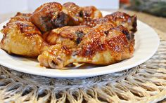 how to bake chicken legs in the oven, sweet and salty chicken legs, chicken and soy sauce recipe  Caramelized Baked Chicken Legs Recipe adapted from Food.com Printable Recipe Serves 6 as a main dish 2 1/2 pounds chicken legs 3/4 cup honey 1/2 cup soy sauce 1/4 cup ketchup Salt n pepper 3 to 4 cloves garlic