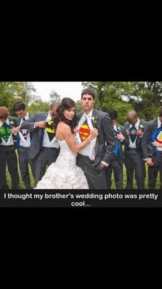 This is the best wedding idea EVER. I was already thinking for my wedding I'd want like a comic book theme because I'm not fancy lol & this is AMAZING