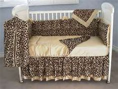 The bumper and crib skirt are in cheetah velvet with butter satin piping and a band crib quilt. Oh I wish I had 600 extra dollars. Baby Crib Sets, Baby Girl Bedding, Baby Bedding Sets, Baby Bedroom, Cheetah Bedding, Cheetah Nursery, Girl Nursery, Girl Cribs, Baby Cribs