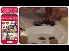 Ahşap Boyama Teknikleri - Dekoratif Baskı Tekniği - YouTube