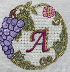 3a31f4df #HappyValentinesDay Here's a #freeembroiderydesign for you! You will find  Monogram A on this · Free MonogramEmbroidery AppliqueMachine ...
