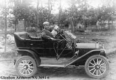ca. 1911-1912 George Nimmons in his 1911 McLaughlin automobile, Calgary…
