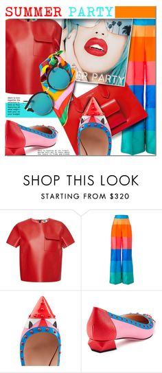 """SUMMER PARTY"" by barbarela11 ❤ liked on Polyvore featuring MSGM, Daizy Shely, Rupaul and Fendi"