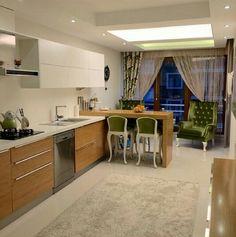 Mutfak dolapları / tavan / renkler