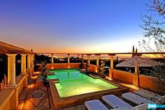 Josh Altman's Kimridge listing might just look even better at night! That's twilight with 360 degree views -- simply breathtaking.