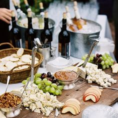 Make sure your menu looks as good as it tastes by opting for a food station at your reception or cocktail hour! Not only will guests love it, but it's also a great way to add personality to your menu.