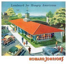 """Art Detail from 1950s """"Howard Johnson's"""" Advertisement."""
