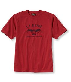 #LLBean: Carefree Unshrinkable Tee, Traditional Fit Two Moose