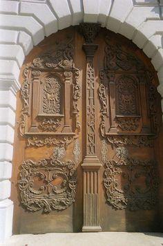 //Door of the Primates Palace Bratislava
