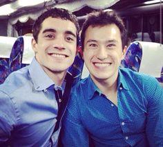 Javier Fernandez(Spain) and Patrick Chan(Canada)