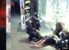 This country could use more stories like this...Officer Lawrence Deprimo buys barefoot, homeless man a pair of boots.