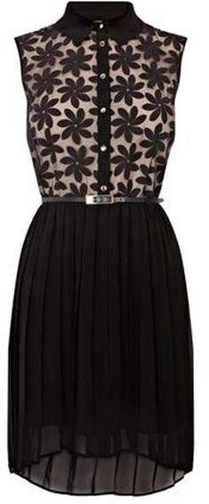 Daisy Lace Dip Hem Dress