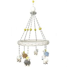 Rosenberry Rooms has everything imaginable for your child's room! Share the news and get $20 Off  your purchase! (*Minimum purchase required.) Sheep Mobile #rosenberryrooms
