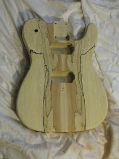 spalted Tele Guitar Body