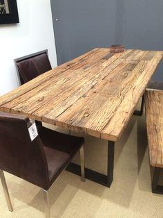 Esstisch Tisch Thar 200 x 100cm Altholz Massiv Industrie Design Sit NEU