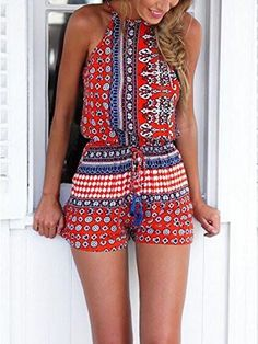 Bohemian Style Playsuit is casual sexy and perfect to wear on the weekend to the beach or for a day of shopping! This sexy playsuit has free shipping.