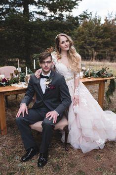 Loralee + Jonathan // Winterberry Tree Farm Wedding Inspiration — Julie Floro Photography // Essense of Australia wedding dress
