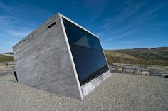Beautiful little rest stop in Norway designed by 'L J B' - board formed concrete is just sweet