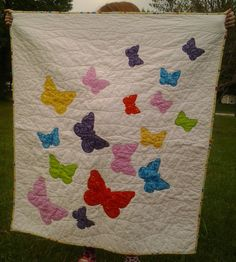 Butterflies Quilt by SmallFryQuilts on Etsy, $55.00
