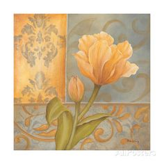 Yellow Tulip Prints by Kim Lewis at AllPosters.com