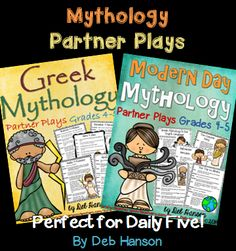 Greek Mythology Partner Plays for grades 4-5!  Each set contains 5 scripts!  Great for improving fluency! $