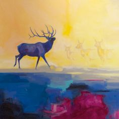 Sunlit King | Carrie Wild Fine Art  Contemporary Wildlife Painting