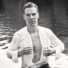 Benedict Cumberbatch decided to pose as Mr. Darcy from the 1995 television adaptation of Pride and Prejudice.