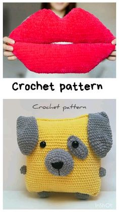 crochet pattern pillow, crochet dog, amigurumi dog pattern, crochet lips, crochet toys pattern crochet pattern toys STEP-BY-STEP INSTRUCTIONS and PHOTOS to Knit a Bunny from a . Crochet Pig, Crochet Pillow, Crochet Patterns Amigurumi, Baby Blanket Crochet, Crochet Crafts, Easy Crochet, Crochet Projects, Easter Crochet Patterns, Crochet Patterns For Beginners