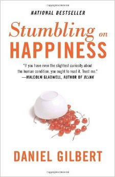 Stumbling on Happiness. Gilbert says that we think we can predict what will make us happy, but we're wrong. I think he's right! Good Books, Books To Read, My Books, Free Books, What Makes You Happy, Are You Happy, Reading Lists, Book Lists, Stumbling On Happiness