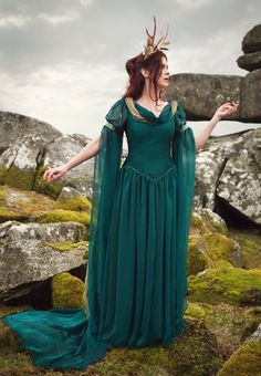 484 - Rossetti Gown - Gothic, romantic, steampunk clothing from The Dark Angel