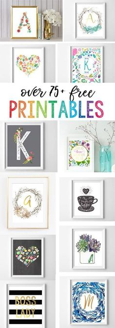 1420 Best Printable Decor, Free Downloads + Initial Printable Art