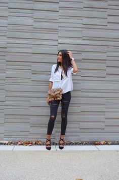 JUNESIXTYFIVE - Look chemise blanche