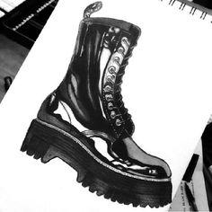 Hand Drawn Dr. Martens from @artsy_mel on instagram.com/drmartensofficial