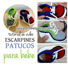 Aprende a Tejer Escarpines o Patucos Zapatillas para Bebé   Video Tutorial  Crochet fa6d285d7b1