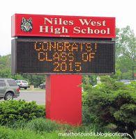 "Niles West High School in Skokie, Illinois--""Congrats! Class of 2015!"""