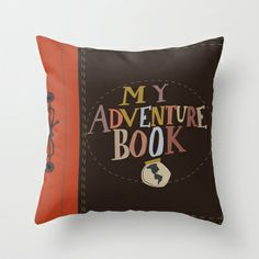 my adventure book.. up, carl and ellie Throw Pillow by studiomarshallarts - $20.00
