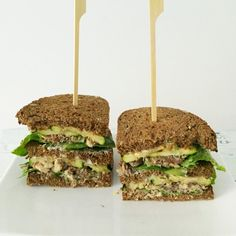 I Love Health | Club sandwich with sardine and courgette recipe | http://www.ilovehealth.nl