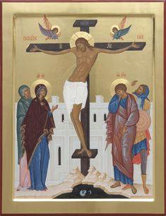 Russian Icons, Byzantine Icons, Religious Icons, Orthodox Icons, Crucifix, Scene, Symbols, Painting, Religion